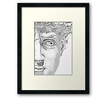Head of David, (Michelangelo) Framed Print