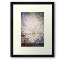 Gray Vintage Abstract Texture Framed Print
