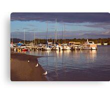Yacht club jetty Canvas Print