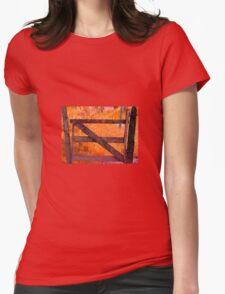 Old gate countryside Womens Fitted T-Shirt