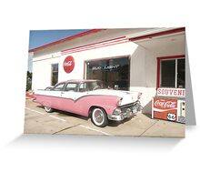 Ford Fairlane 1955 'The Crown Victoria'. Greeting Card