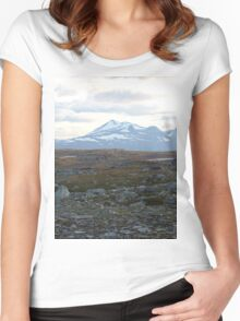 a stunning Finland landscape Women's Fitted Scoop T-Shirt