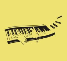 the pianist light t-shirt version Kids Clothes