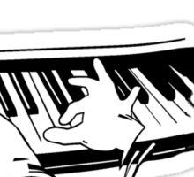 the pianist light t-shirt version Sticker