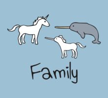 Family - Unicorn, Narwhal, Narwhalicorn by jezkemp