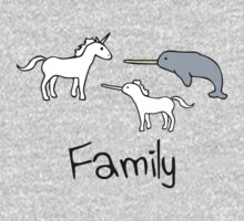 Family - Unicorn, Narwhal, Narwhalicorn One Piece - Long Sleeve