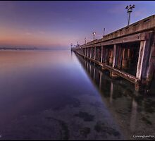 Cunningham Pier at sunset by Ashley Denmead