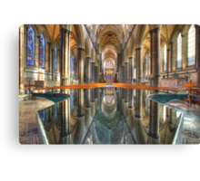 Salisbury Cathedral Interior Reflections Canvas Print