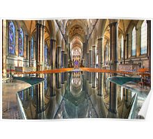 Salisbury Cathedral Interior Reflections Poster