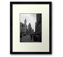 Great grey utopia Framed Print