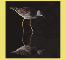 Greater Yellowlegs Reflects Kids Clothes