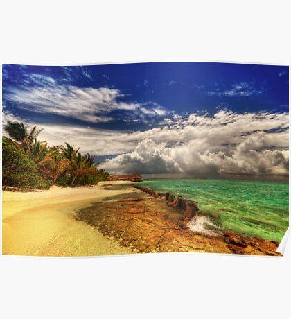 Maldivian Beachside Poster