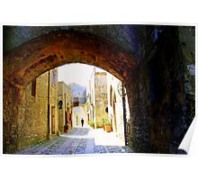 Arch & Stair Series - Wandering in Erice Poster