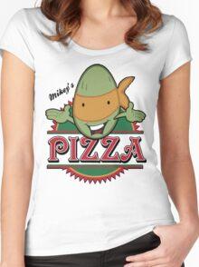 Mickey's Pizza Women's Fitted Scoop T-Shirt