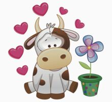Little cow in love Kids Clothes