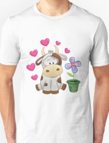 Little cow in love Unisex T-Shirt