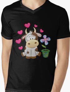 Little cow in love Mens V-Neck T-Shirt