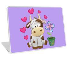Little cow in love Laptop Skin