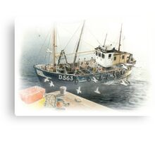 Bringing Home the Catch Canvas Print