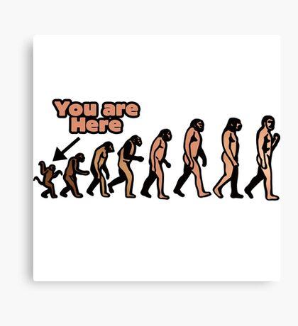 Evolution humor Canvas Print