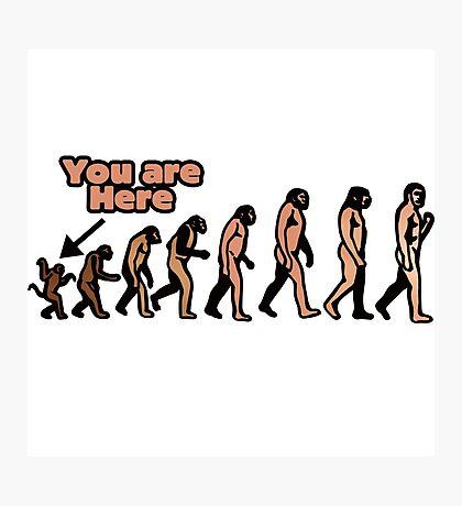 Evolution humor Photographic Print