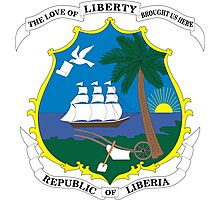 Coat of Arms of Liberia Photographic Print