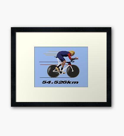 Wiggo Record Breaker Framed Print