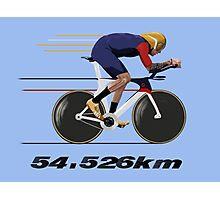 Wiggo Record Breaker Photographic Print