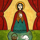 ST. GERTRUDE PATRON OF CATS & HERBALISTS by Frances Perea