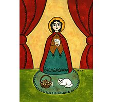 ST. GERTRUDE PATRON OF CATS & HERBALISTS Photographic Print
