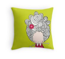 Big hair Bertha Throw Pillow