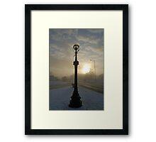 Winter streetlight Framed Print