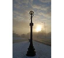 Winter streetlight Photographic Print