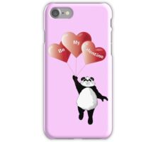 Panda and Balloons Valentine Card iPhone Case/Skin