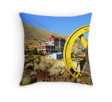 """Virginia City Mining Machinery"" Throw Pillow"