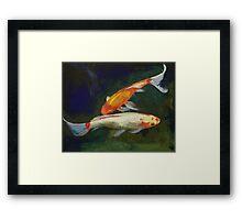 Feng Shui Koi Fish Framed Print