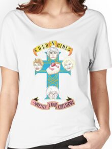 """Gold N Girls """"Appetite for Cheesecake"""" Shirt Women's Relaxed Fit T-Shirt"""