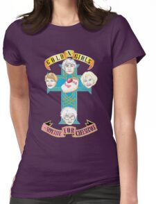 """Gold N Girls """"Appetite for Cheesecake"""" Shirt Womens Fitted T-Shirt"""