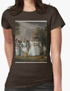 an awesome Barbados landscape Womens Fitted T-Shirt