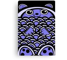 Cuddly Blue Bear Canvas Print