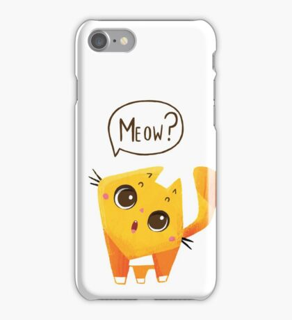 Orange Kitten iPhone Case/Skin