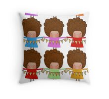 Bunty and her bunting Throw Pillow