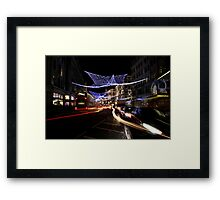 Oxford Street Christmas Lights Framed Print