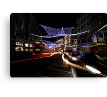Oxford Street Christmas Lights Canvas Print