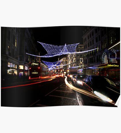 Oxford Street Christmas Lights Poster