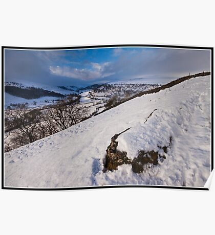 A winters view of the Wharfdale valley Poster