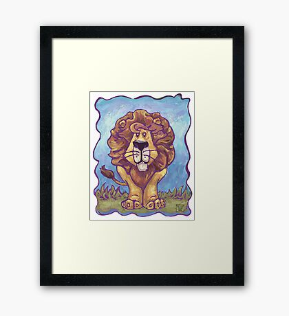 Animal Parade Lion Framed Print