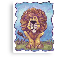 Animal Parade Lion Canvas Print