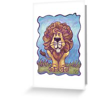 Animal Parade Lion Greeting Card