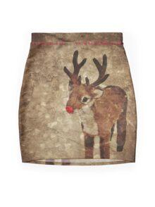 Fröhliche Weihnachten (Rudy-Version) Mini Skirt